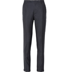 PS by Paul Smith Regular-Fit Pleated Houndstooth Wool Trousers