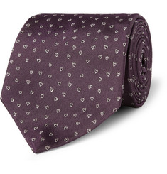 Paul Smith London Heart-Patterned Silk Tie