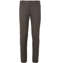 Etro Slim-Fit Woven Herringbone Trousers