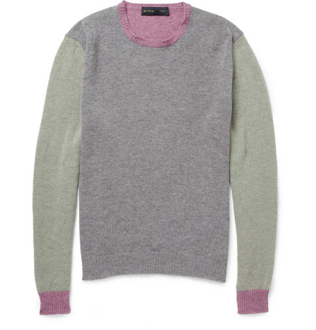 Etro Panelled Wool Sweater
