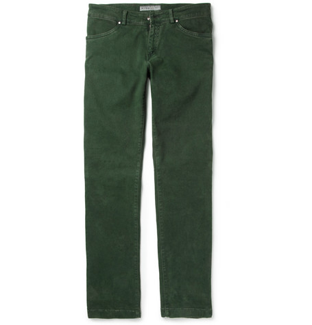 Etro Regular-Fit Brushed-Denim Jeans