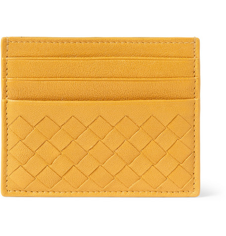Bottega Veneta Intrecciato Woven-Leather Card Holder