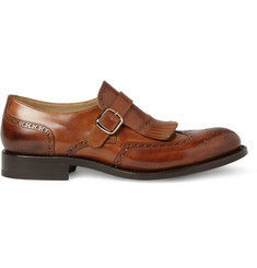 O'Keeffe Algy Leather Monk-Strap Brogues