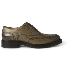 O'Keeffe Rustic Leather Wingtip Brogues