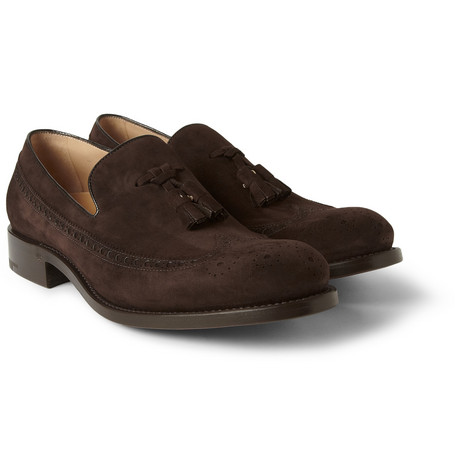 O'Keeffe Vision Suede Tasseled Brogue Loafers