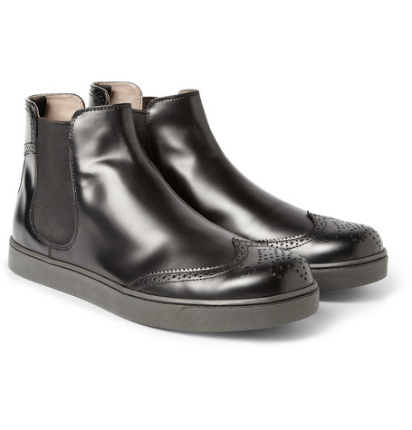 Gianvito Rossi Wingtip Leather Chelsea Boots