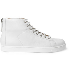 Gianvito Rossi Full-Grain Leather High-Top Sneakers