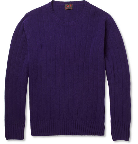 MP di Massimo Piombo Ribbed Wool and Cashmere-Blend Sweater