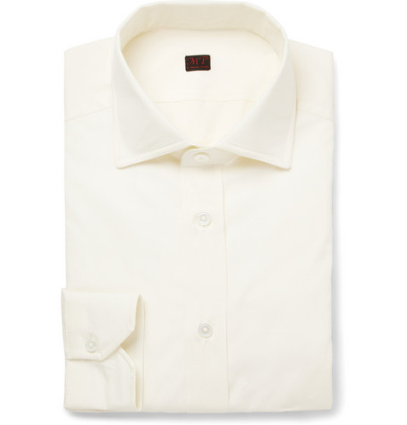 MP di Massimo Piombo Cream Cotton Shirt