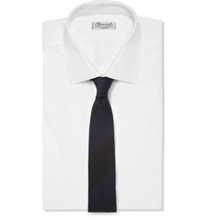 MP di Massimo Piombo Striped Wool and Silk-Blend Tie