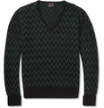 MP Massimo Piombo - Zip-Zag Wool and Cashmere-Blend Sweater