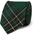 MP Massimo Piombo Plaid Wool Tie