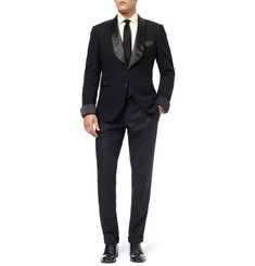 MP di Massimo Piombo Shawl-Collar Wool Tuxedo Blazer
