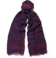 MP Massimo Piombo - Printed Wool and Silk-Blend Scarf