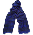 MP di Massimo Piombo Printed Wool and Silk-Blend Scarf