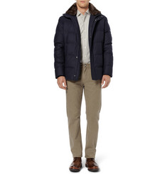 Loro Piana Beaver-Trimmed Cashmere Down-Filled Coat