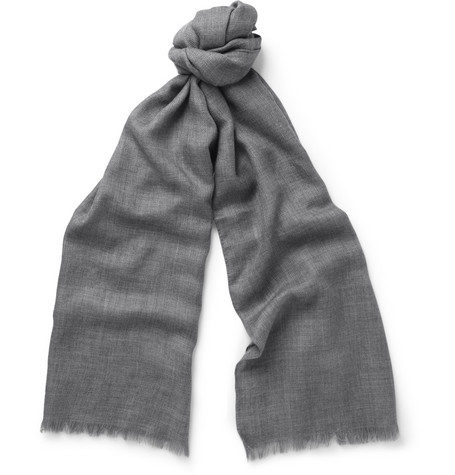 Loro Piana Cashmere and Silk-Blend Scarf