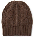 Loro Piana Cable Knit Baby Cashmere Beanie Hat