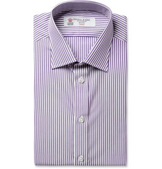 Turnbull & Asser Purple Bengal Stripe Cotton Shirt
