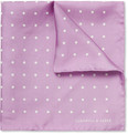 Turnbull & Asser - Polka-Dot Silk Pocket Square