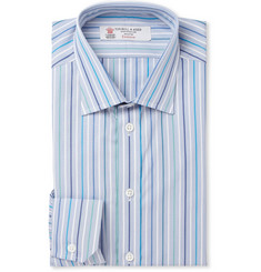 Turnbull & Asser Blue Slim-Fit Striped Cotton Shirt