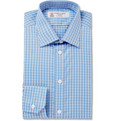 Turnbull & Asser - Blue Slim-Fit Check Cotton Shirt