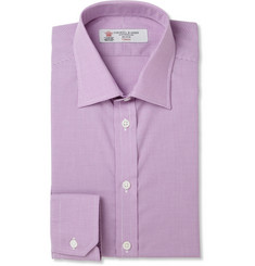 Turnbull & Asser Pink Slim-Fit Gingham Check Cotton Shirt