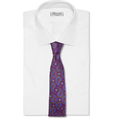 Turnbull & Asser Paisley-Patterned Woven-Silk Tie