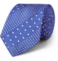 Turnbull & Asser Spotted Woven-Silk Tie