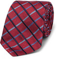 Turnbull & Asser - Check Woven-Silk Tie