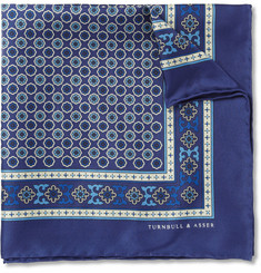 Turnbull & Asser Madder-Print Silk Pocket Square