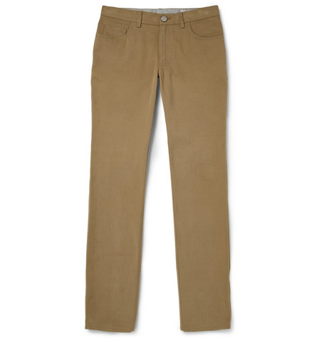 Brioni Regular-Fit Cotton-Twill Trousers
