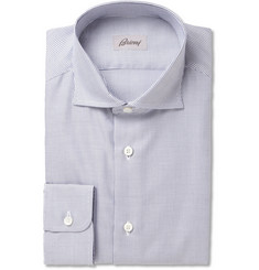 Brioni Slim-Fit Patterned Woven-Cotton Shirt