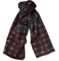 Brioni Patterned Fine Wool and Silk-Blend Scarf