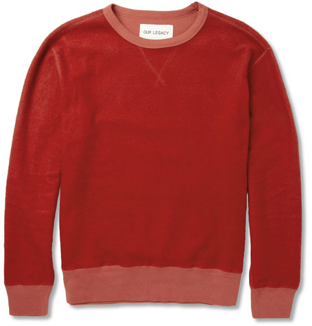Our Legacy Reversible Cotton-Blend Sweatshirt