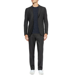 Our Legacy Black Slim-Fit Flecked Wool-Blend Suit Jacket