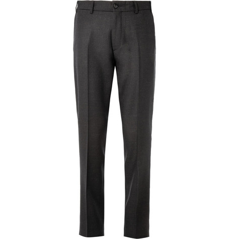Our Legacy Black Flecked Wool-Blend Suit Trousers