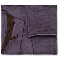 Boglioli Jacket-Patterned Woven Pocket Square