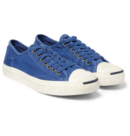 Converse Jack Purcell Washed Cotton-Twill Sneakers