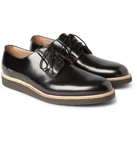Common Projects Crepe-Soled Leather Derby Shoes