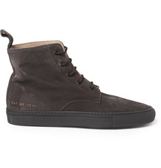Common Projects Training Suede High Top Sneakers