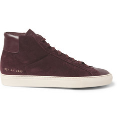 Common Projects Suede and Leather High Top Sneakers