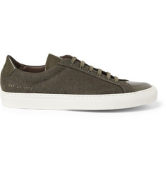 Common Projects Achilles Leather-Trimmed Wool Low Top Sneakers