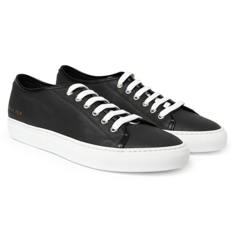 Common Projects Tournament Waxed Canvas Low Top Sneakers