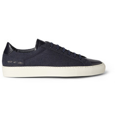 Common Projects Original Achilles Leather-Trimmed Wool Low-Top Sneakers