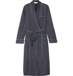 Derek Rose Plaza Polka-Dot Cotton Robe