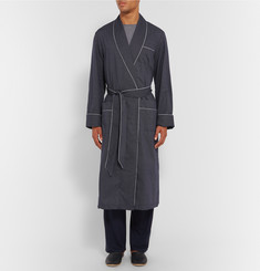 Derek Rose Plaza Polka-Dot Cotton Dressing Gown
