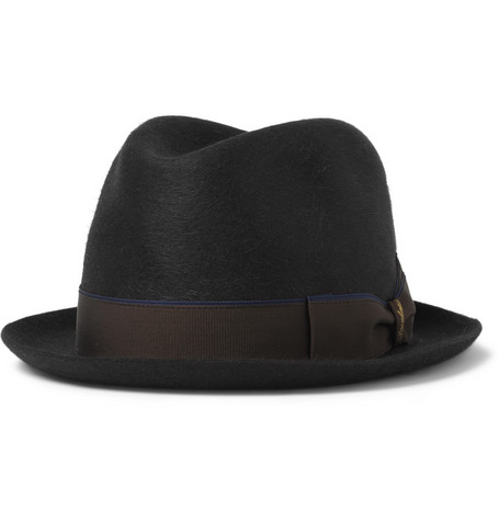 Borsalino Water-Repellent Felt Trilby Hat