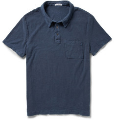 James Perse Slub Cotton-Jersey Polo Shirt