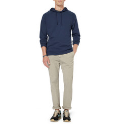 James Perse Raglan Sanded Cotton-Jersey Hoodie